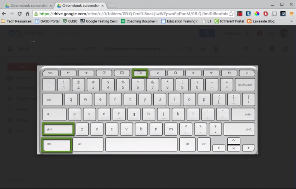 how to take a partial screenshot on chromebook