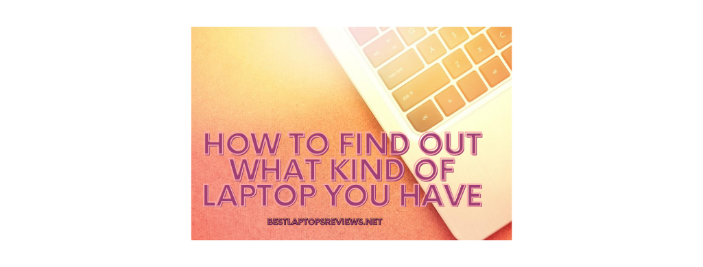 how to find out what kind of laptop you have